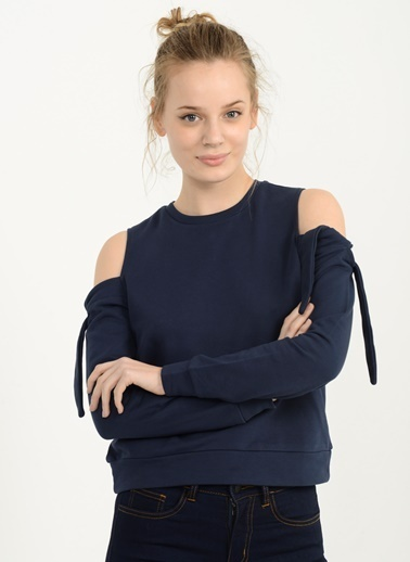 Kolları Bağlama Detaylı Sweatshirt-People By Fabrika